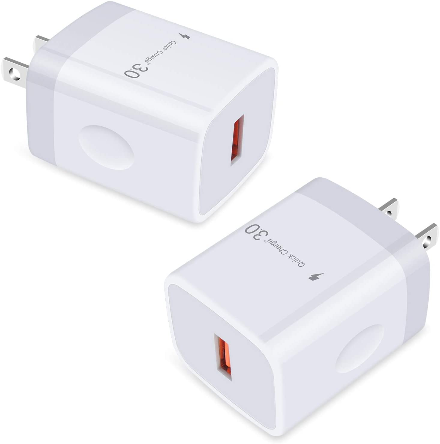 Quick Charge 3.0 USB Charger, GiGreen 2-Pack Fast Charging Wall Plug Charger Adapter Power Block Compatible Samsung Note 20 Ultra, S20 S10+ A10e A11 A20 A50 A70 A51 A71, iPhone, LG, Moto Z4 Z3 Z Force