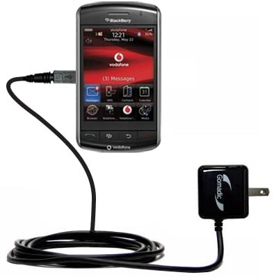 Gomadic High Output Home Wall AC Charger designed for the Blackberry 9550 9530 9520 9570 with Power Sleep technology - Intelligently designed with Gomadic TipExchange