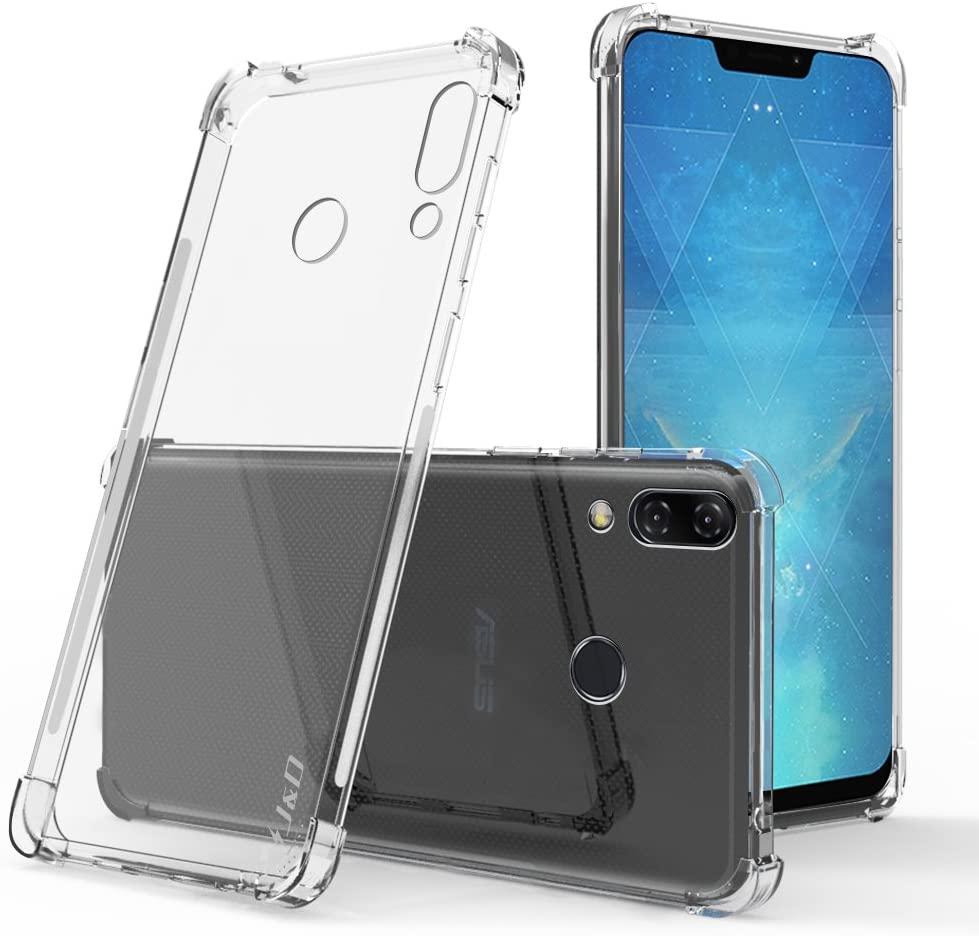 J&D Case Compatible for ASUS ZenFone 5 Case, Corner Cushion Ultra Clear Shock Resistant Protective Slim TPU Bumper Case for ZenFone 5 Cover (Not for ZenFone 5Z / ZenFone 5 Lite), Transparent