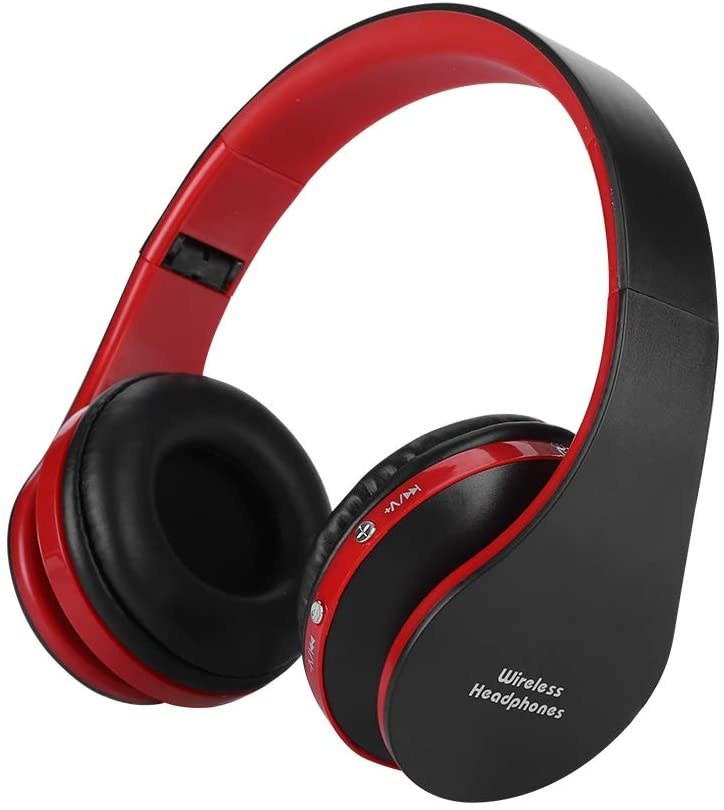 Hopcd Stereo Gaming Headset for PS4, HiFi Sound Bluetooth Gamer Headphone with MIC + 12-Hour Calling /10-Hour Music for PS4, Noise Cancelling Over Ear Headphones(Black+Red)