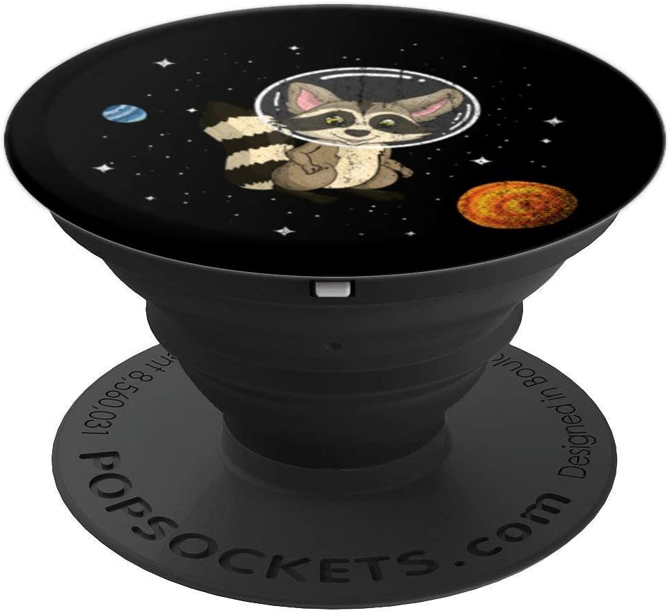 Astronaut Racoon PopSockets Grip and Stand for Phones and Tablets