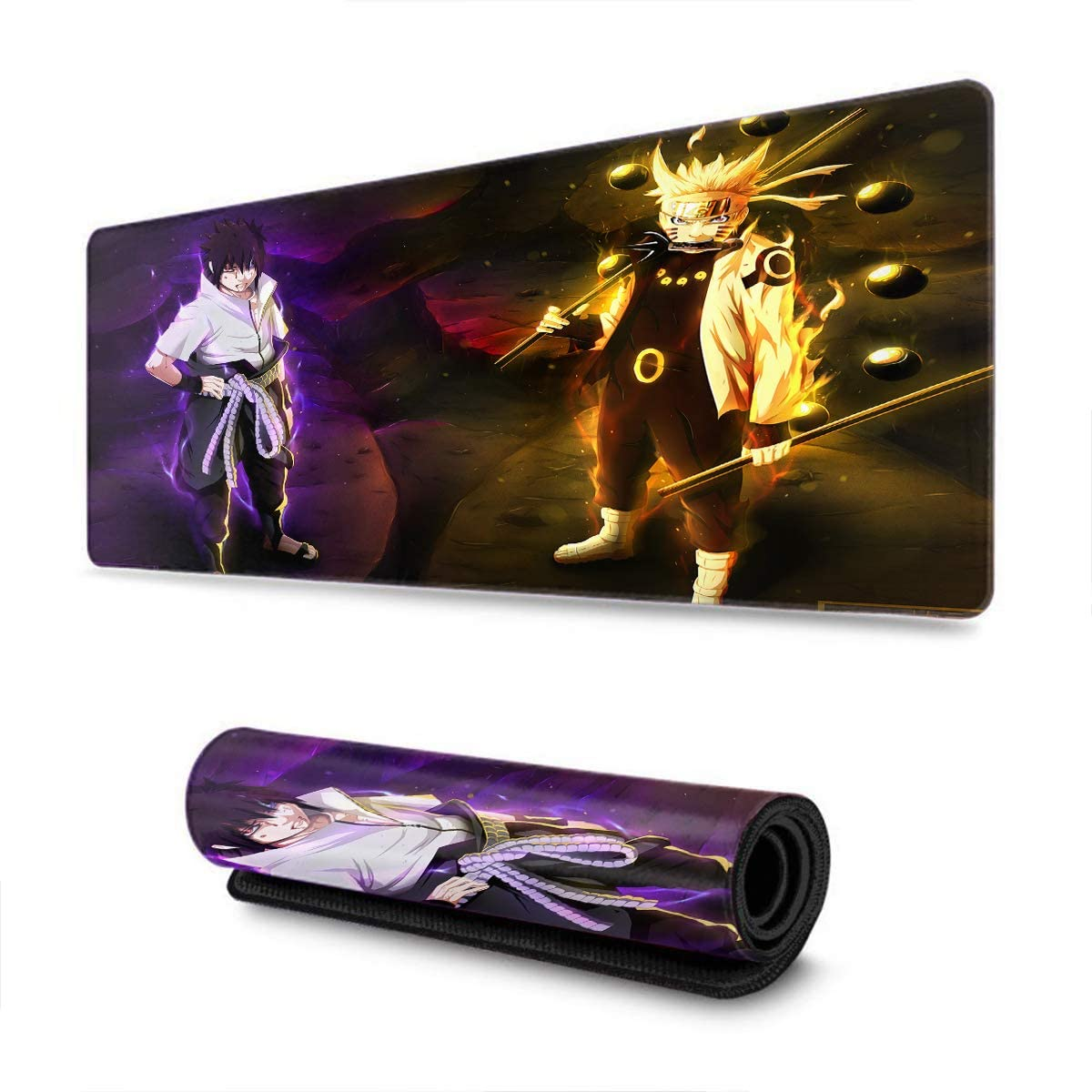 Extended Size Professional Gaming Mouse Pad Computer Keyboard Mouse Mat for Uzumaki Naruto Kakashi, Custom Design Waterproof Non-Slip Rubber Ultra Thick 3mm-11.8x31.5x0.2 in