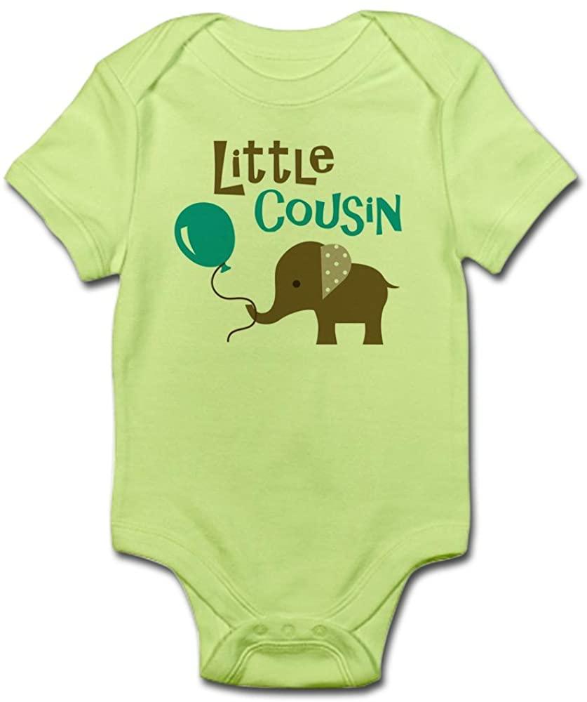CafePress Little Cousin - Mod Elephant Baby Bodysuit