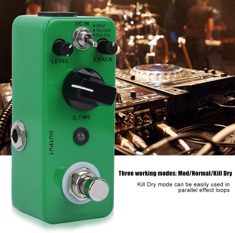 Bnineteenteam Guitar Delay Effect Pedal Delay Effect Sound Processor for Electric Guitar 3 Modes