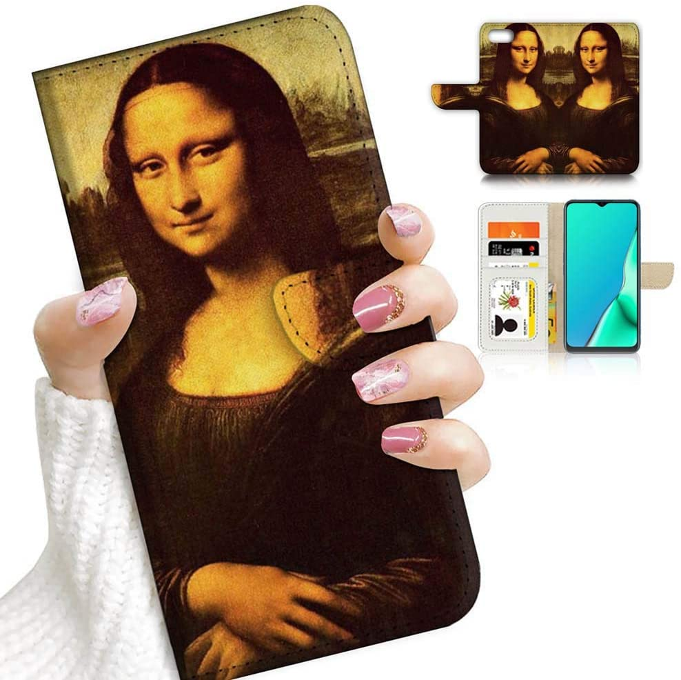 for iPhone 5, iPhone 5S, iPhone SE (2016), Designed Flip Wallet Phone Case Cover, A23026 Mona Lisa 23026