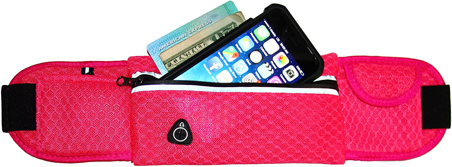 Running & Activity Mesh Belt for iPhone X, 8, 7, 6 / 6S, 6 Plus, 5/5S, Galaxy S8 S7 S6 S5, LG, Moto, HTC One, Pixel & More (Pink)