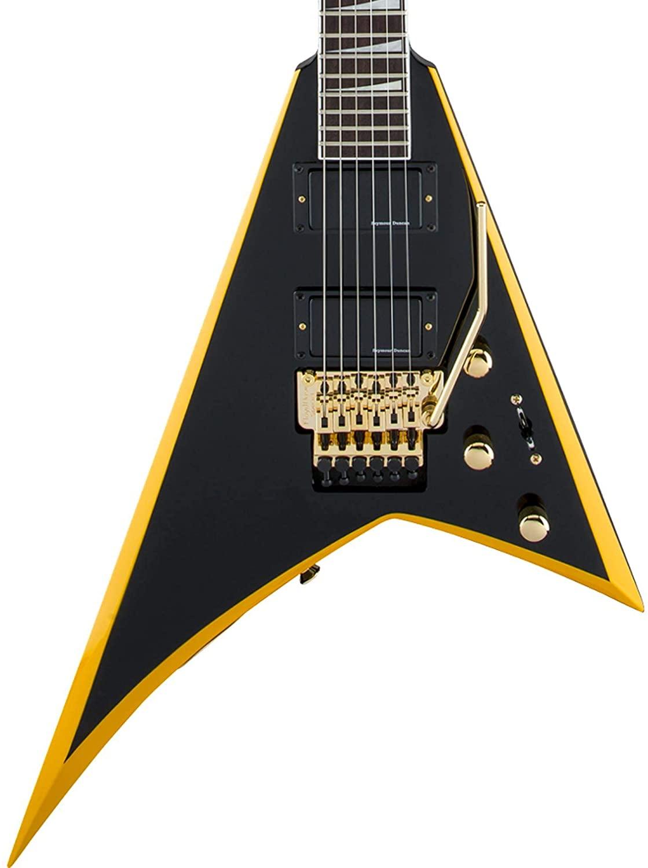 Jackson X Series Rhoads RRX24 - Black with Yellow Bevels