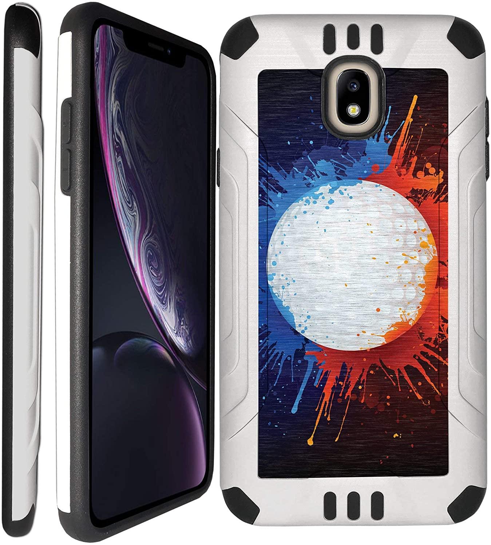 CasesOnDeck Case for [Samsung Galaxy J7 (2018), J7 Crown, J7 Top, J7 Refine, J7 Aero, J7 Aura, J7 Star] - Durable Shock Absorbing Case with Dual Layer Design (Golf)
