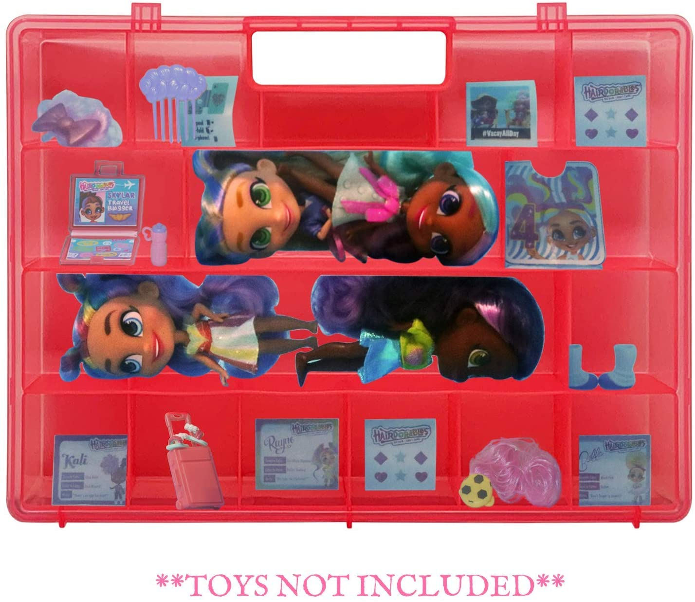 Life Made Better, Protective Pink Doll Case, Compatible with Hairdorable Dolls & Accessories, Strong Storage Display Case, Made