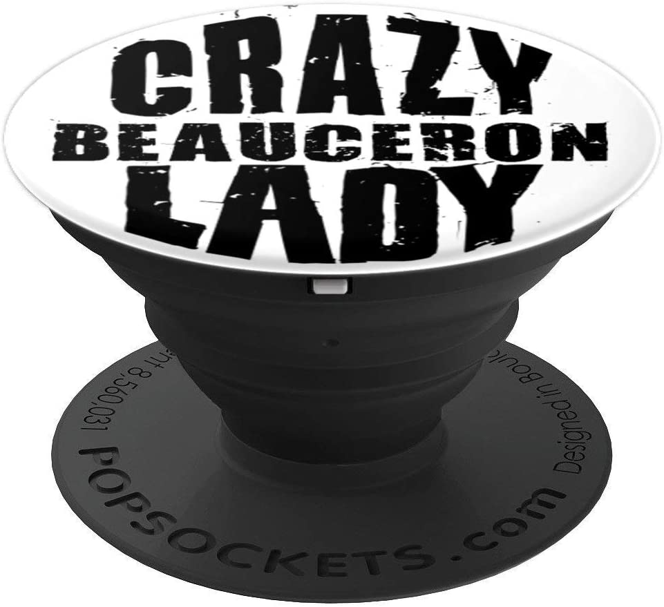 Crazy Beauceron Lady ACF008w Dog Lover PopSockets Grip and Stand for Phones and Tablets