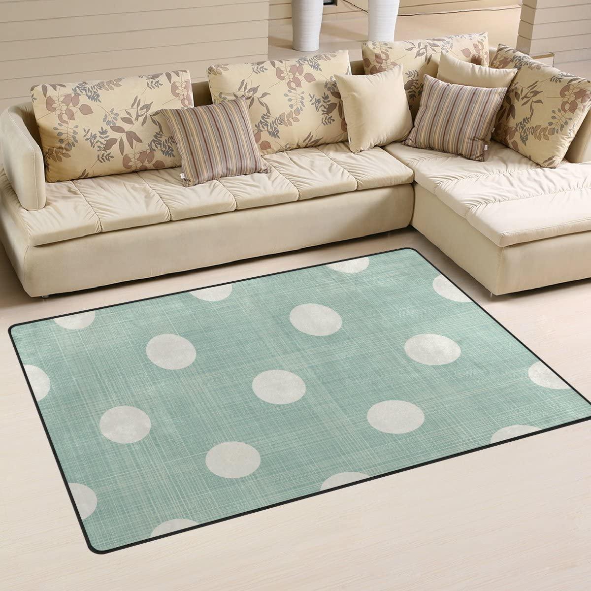 WellLee Area Rug,Rainbow Colorful Dot Glitter Floor Rug Non-Slip Doormat for Living Dining Dorm Room Bedroom Decor 31x20 Inch