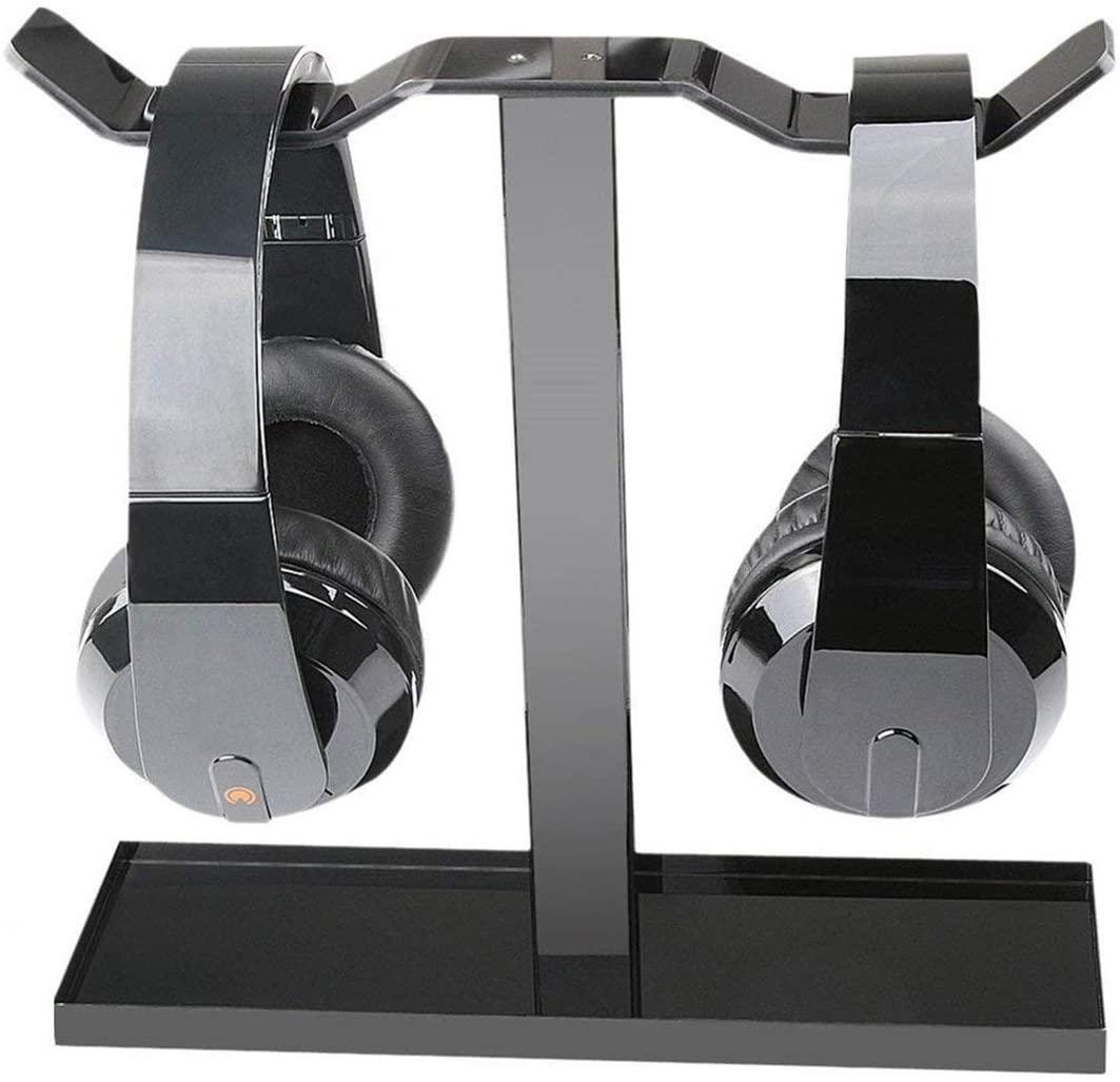 ROSEBEAR Headset Hanger Holder, Headphone Stand Bracket for Home Office School. (Black)
