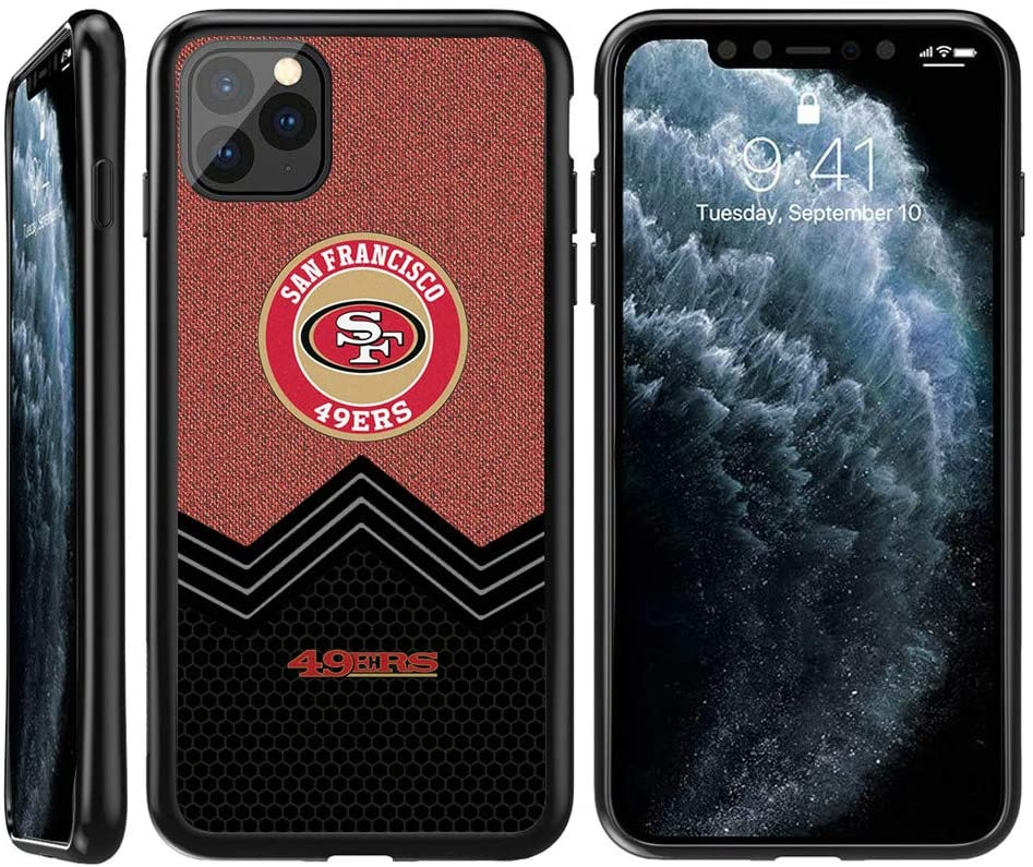 iPhone 11 Pro Max Case 49ers, 49ers iPhone 11 Pro Max TPU Phone Case Cover Soft Flexible TPU Slim Thin Shockproof Protective Silicone Shell