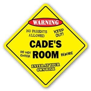CADE'S ROOM Sticker Sign kids bedroom decor door children's name boy girl gift - Sticker Graphic Personalized Custom Sticker Graphic