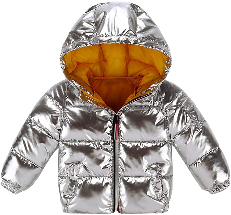 Bbalizko Baby Boys Girls Winter Down Coat Puffer Jacket Light Padded Hoods Kids Infant Toddlers Outerwear
