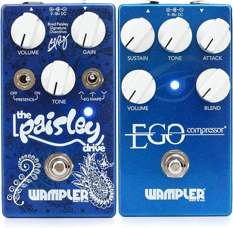 Wampler Ego Compressor Pedal with Blend Control + Wampler Paisley Drive Overdrive Pedal Value Bundle