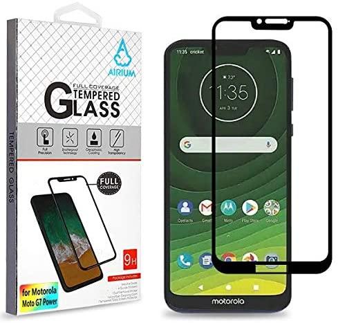 Full Coverage Tempered Glass Screen Protectorblack for Motorola Moto G7 Power Motorola Moto G7 Supra