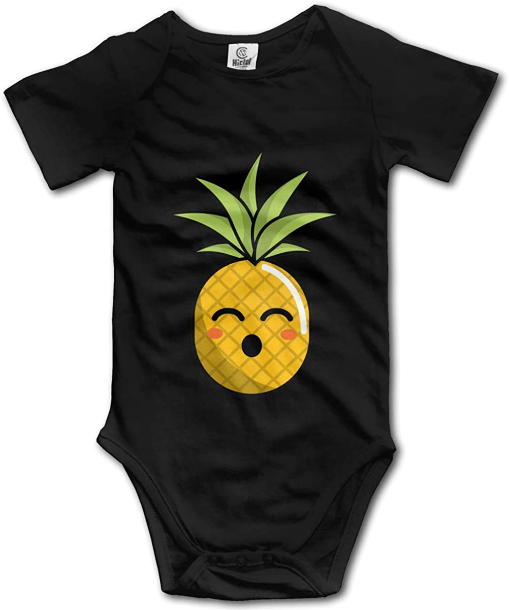 BWSaon Cartoon Pineapple Short Sleeve Onesie Newborn Bodysuit Baby Romper Unisex