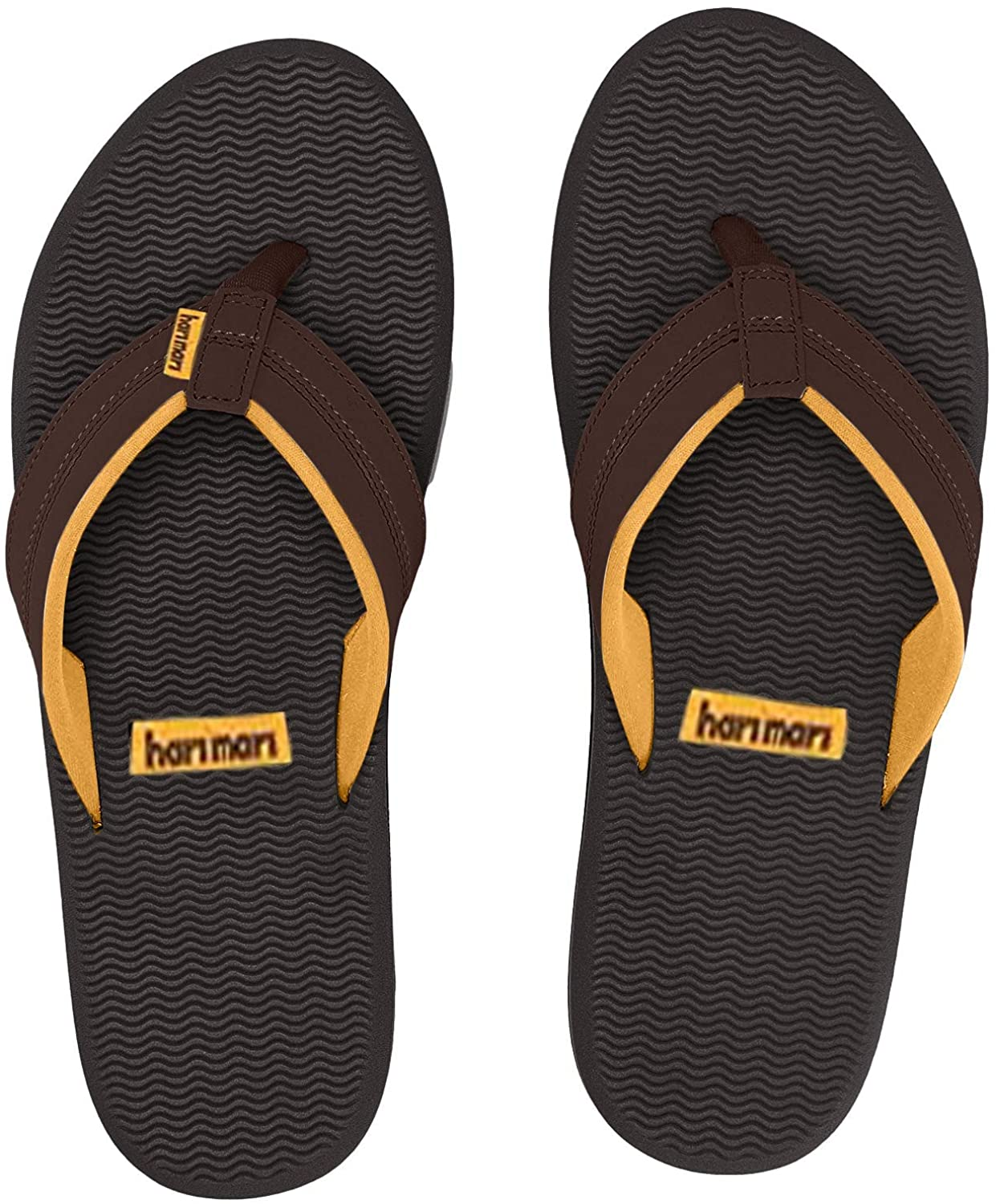 Hari Mari Brazos - Men's Premium Rubber Flip Flops with Nubuck Leather Straps