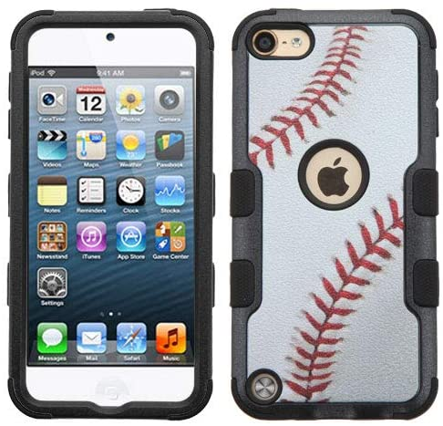 Kaleidio Case for New Apple iPod Touch 7th Gen, iPod Touch 5th Gen, 6th Gen [Natural TUFF] Dual Layer Armor [Shock Absorption] Impact Hybrid Cover [Baseball Design]