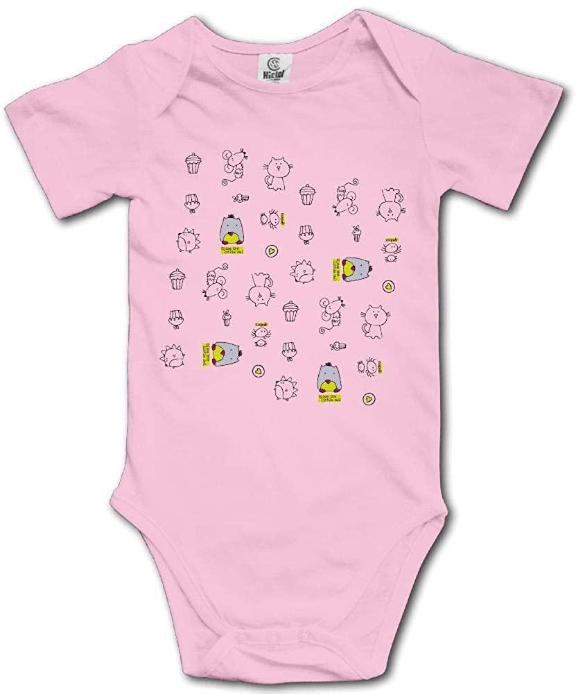 Funny Cat Newborn Baby Bodysuit Infant Short Sleeve Baby Boy Girl Onesies Romper