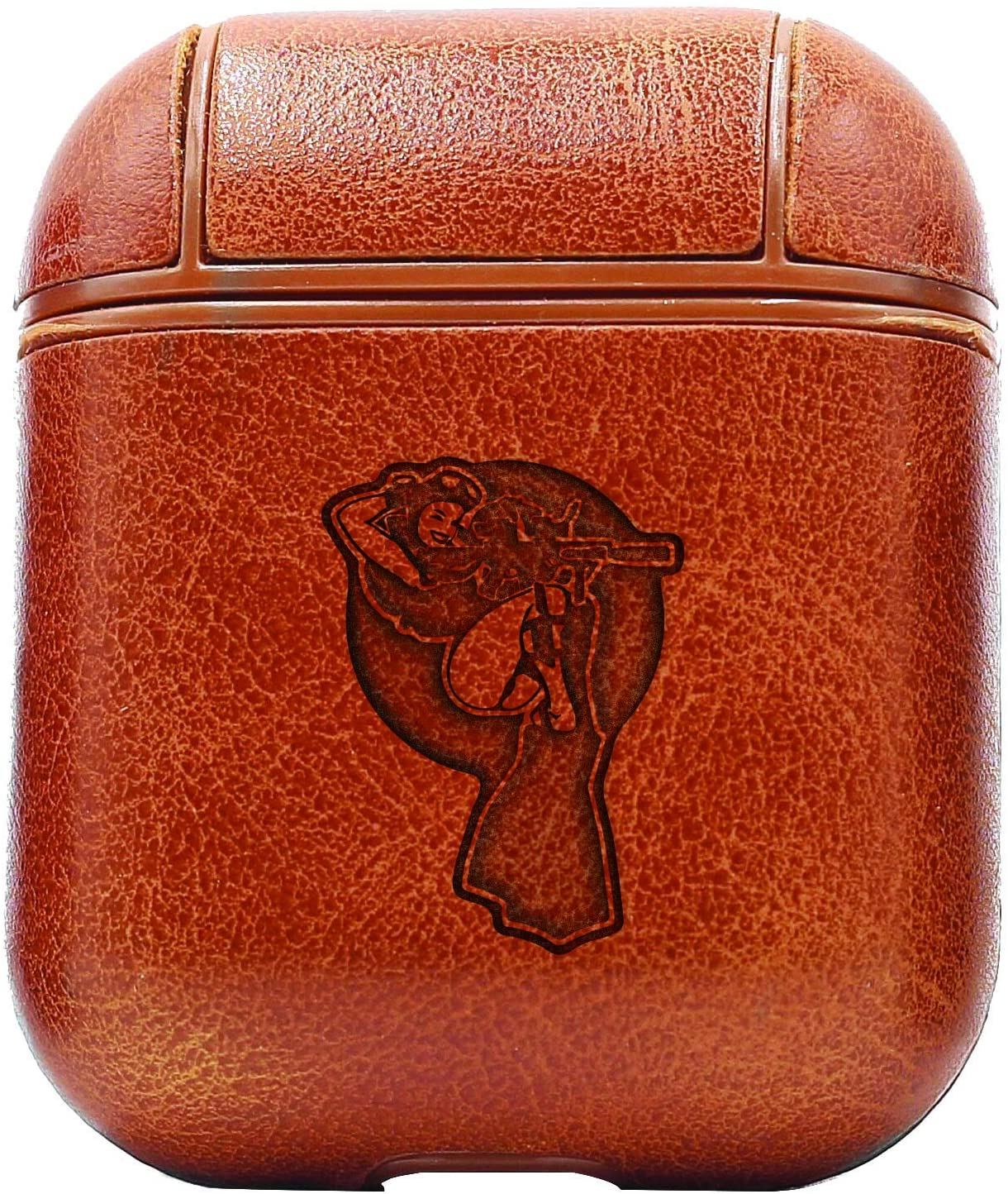 Dive Girl (Vintage Brown) Air Pods Protective Leather Case Cover - A New Class of Luxury to Your Airpods - Premium Pu Leather and Handmade Exquisitely by Master Craftsmen