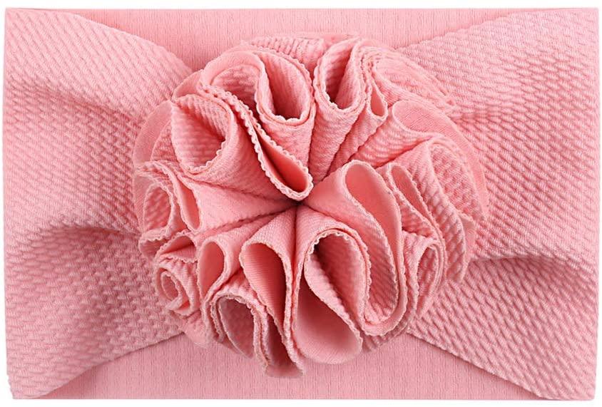 chefenstyNewborn Baby Girl Lovely Flower Headband Headwrap Elastic Wide Hair Bands Turban
