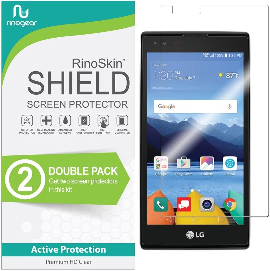 (2-Pack) LG K8V / K8 V (Verizon Only) Screen Protector RinoGear Case Friendly Screen Protector for LG K8V / K8 V Accessory Full Coverage Clear Film