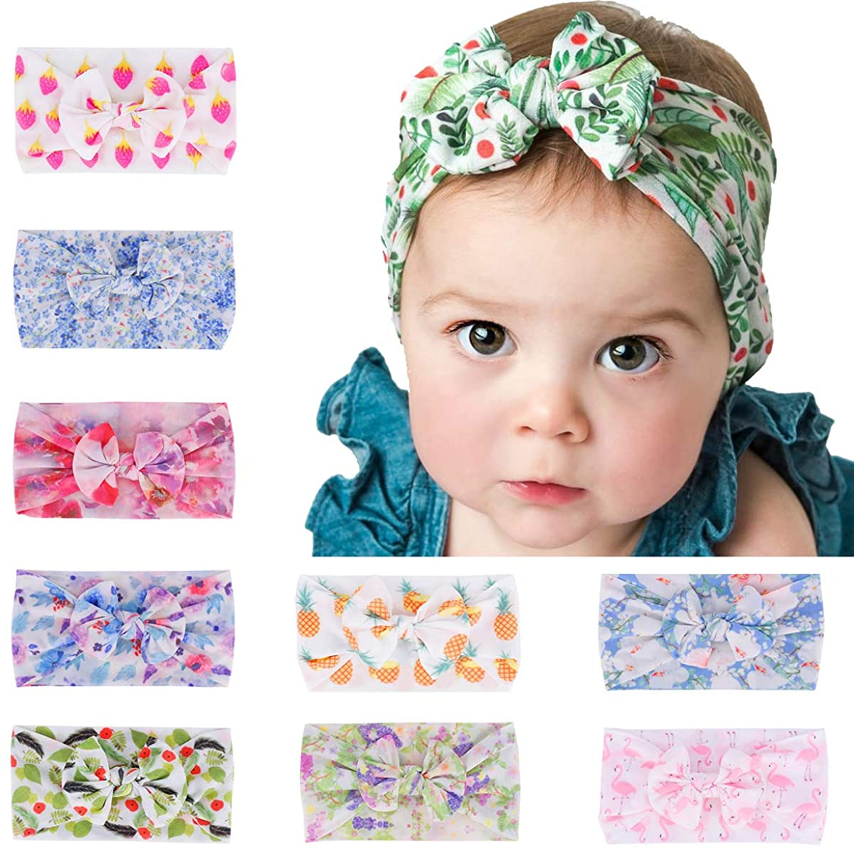 Baby Headbands Turban Knotted, Girl's Hair Accessories for Newborn,Toddler and Childrens