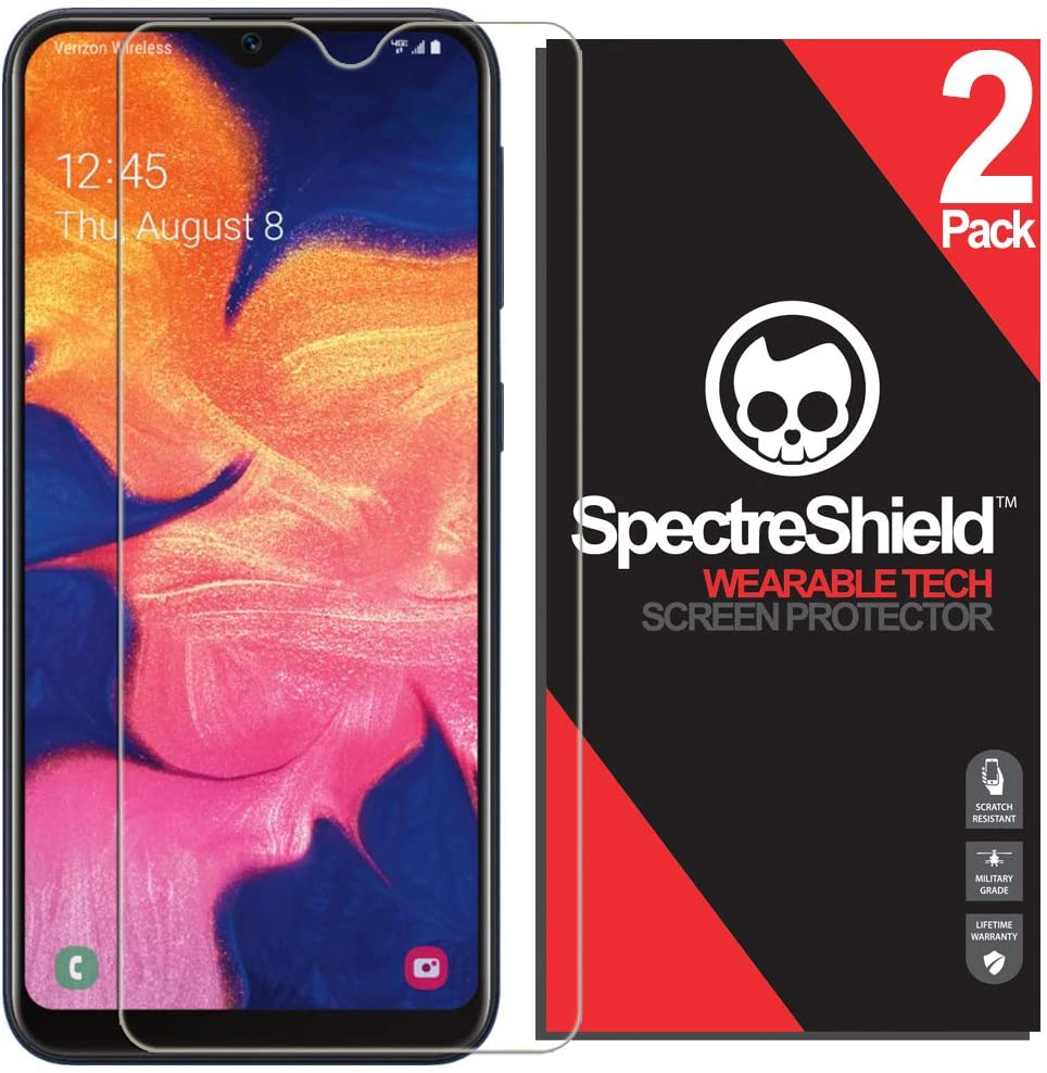 Spectre Shield (2 Pack) Screen Protector for Samsung Galaxy A10e Accessory Samsung Galaxy A10e Screen Protector Case Friendly Full Coverage Clear Film