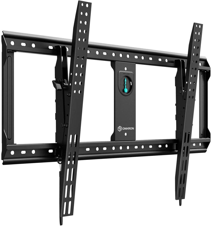 "ONKRON Tilt TV Wall Mount Bracket for 65"" to 90-Inch TVs LED LCD Plasma Flat Screen up to 200 lbs VESA 800x600mm UT9"