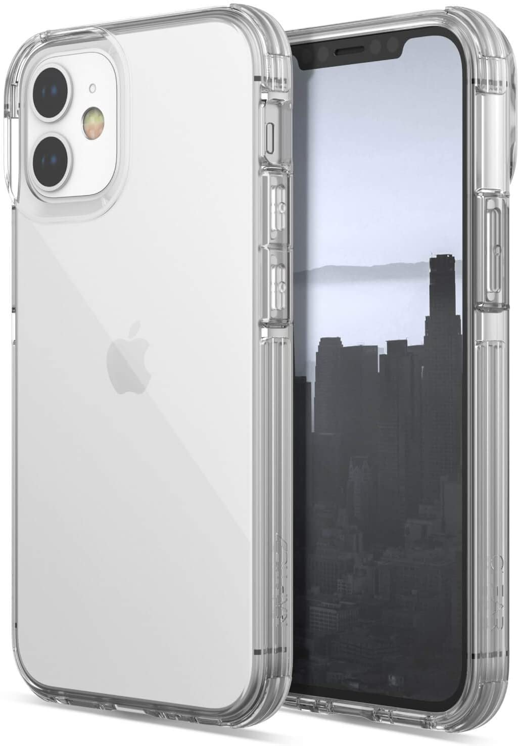 Raptic Clear, iPhone 12 Pro Max Case - Military Grade Drop Tested, Anodized Aluminum, TPU, and Polycarbonate Protective Case for Apple iPhone 12 Pro Max, Clear