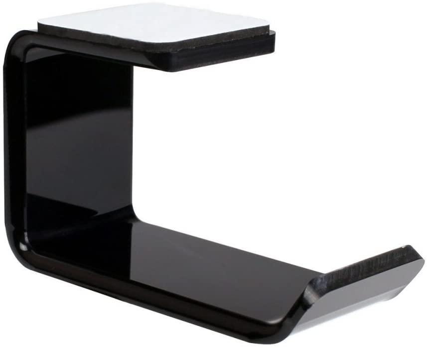 heaven2017 Fashion Earphone Headphone Headset Hanger Holder Hook Sticker Stand Wall Bracket (Black)