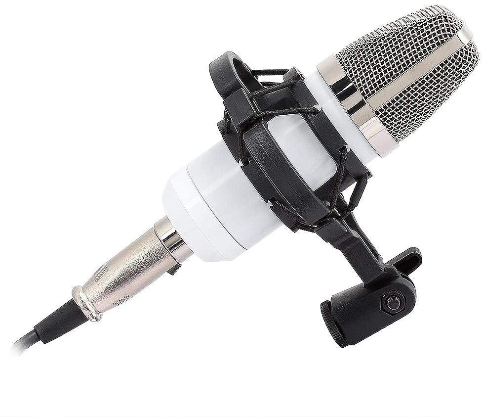 AMONIDA Vocal Condenser Microphone XLR Microphone with Foam Windscreen