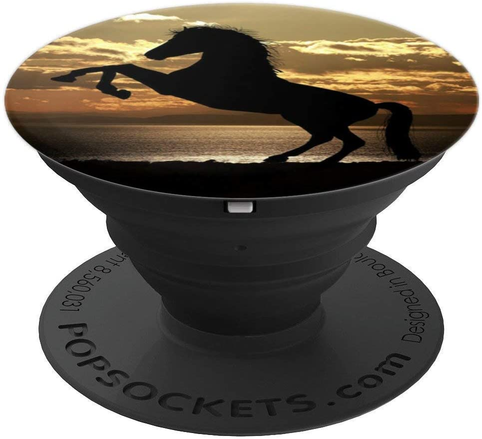 Horse Cute Animal Horse Rider Gift PopSockets Grip and Stand for Phones and Tablets