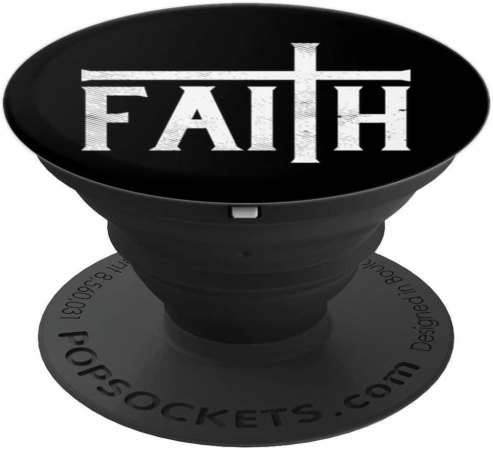 Faith Cross God Jesus Christ Prayer Religious Christian Gift PopSockets Grip and Stand for Phones and Tablets
