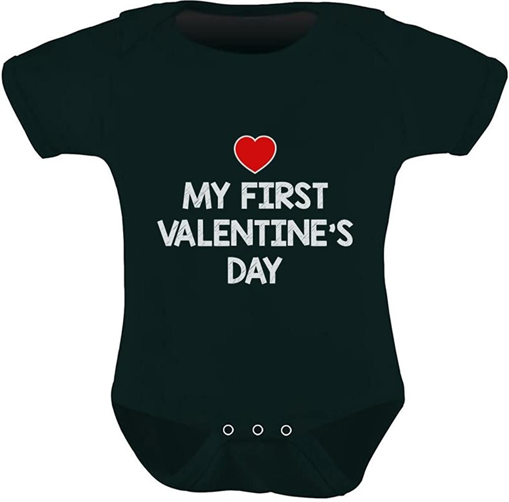 TeeStars - My First Valentine's Day - Cute Baby Grow Vest Infant Baby Bodysuit