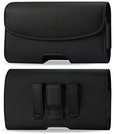 AGOZ for ASUS ZenFone V V520KL, ASUS ZenFone V Live V500KL, ASUS ZenFone 3 Laser ZC551KL, Premium Leather Pouch Case Holster with Belt Clip & Belt Loops (for Bare Phone)