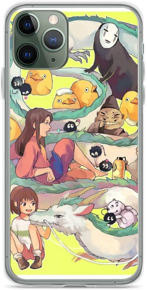 Phone Case Spirited Away Compatible with iPhone 6 6s 7 8 X XS XR 11 Pro Max SE 2020 Samsung Galaxy Drop Bumper
