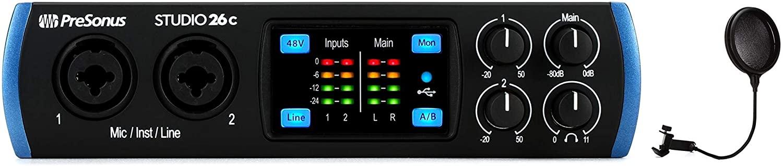 Gator GM-POP FILTER - Pop Filter + PreSonus Studio 26c USB-C Audio Interface Value Bundle
