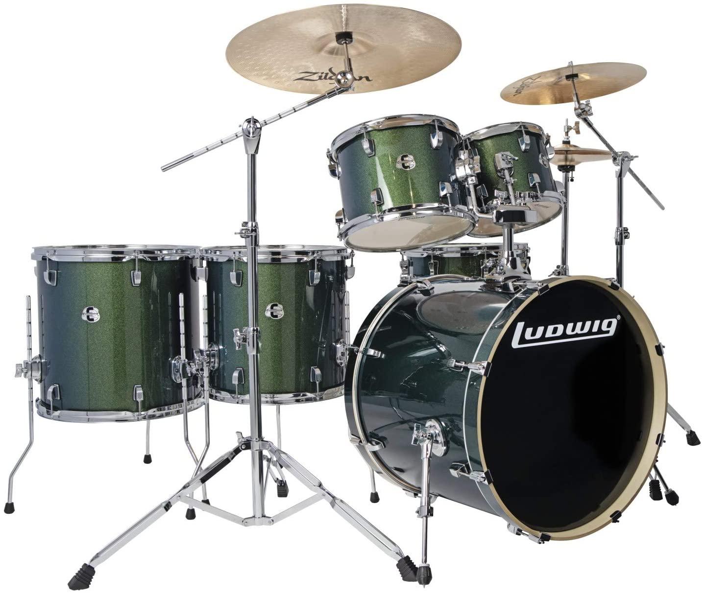 Ludwig Element Evolution 6-piece Complete Drum Set with Zildjian I Cymbals - 22