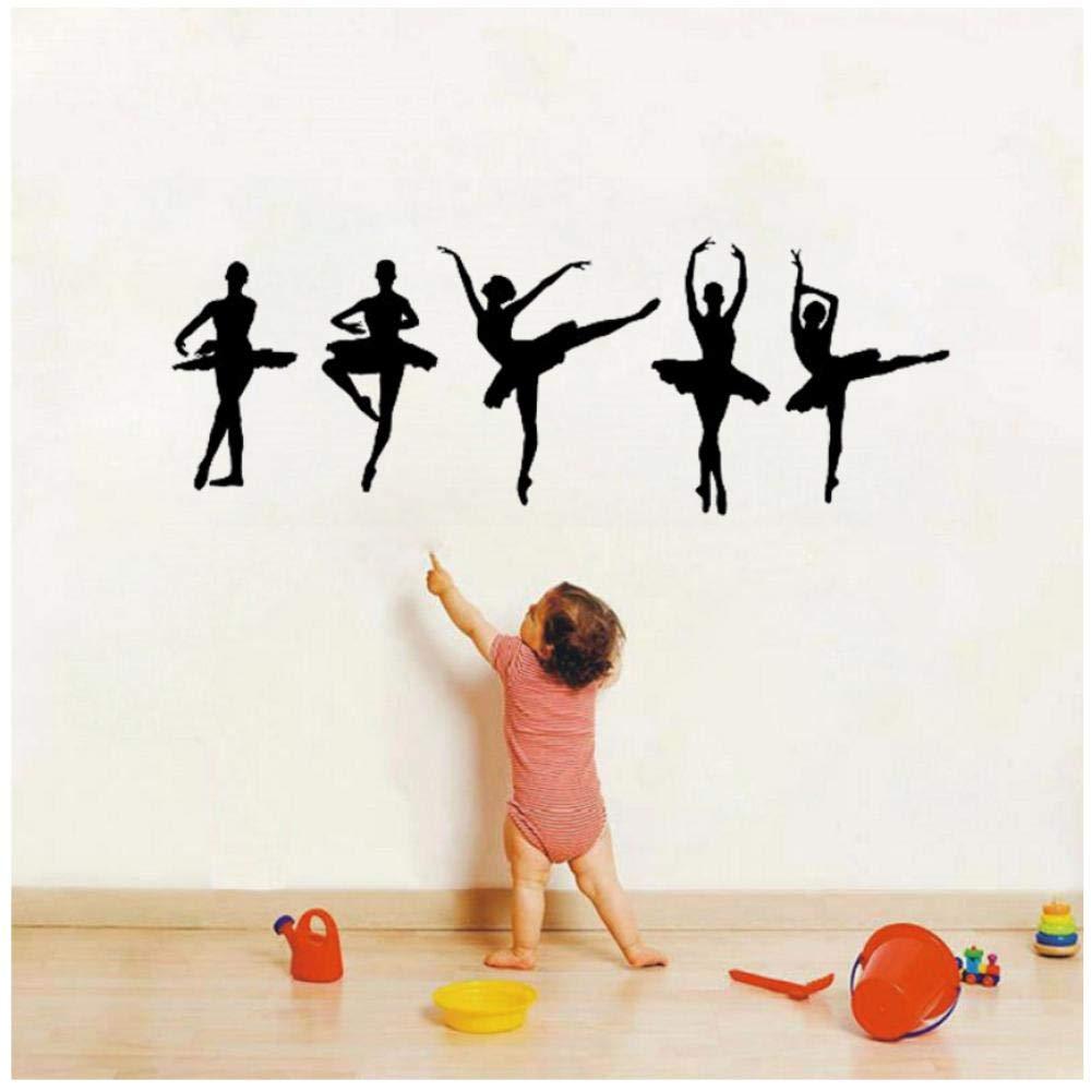 Wall Stickers Ballet Ballerina Dancers Wall Decal Girls Bedroom livingroom Nursery Wall Decal Vinyl Decor Art Sticker Removable Mural