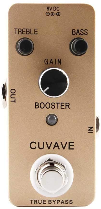 heaven2017 Pure Booster 2-Band EQ True Bypass Analog Delay Guitar Effect Pedal