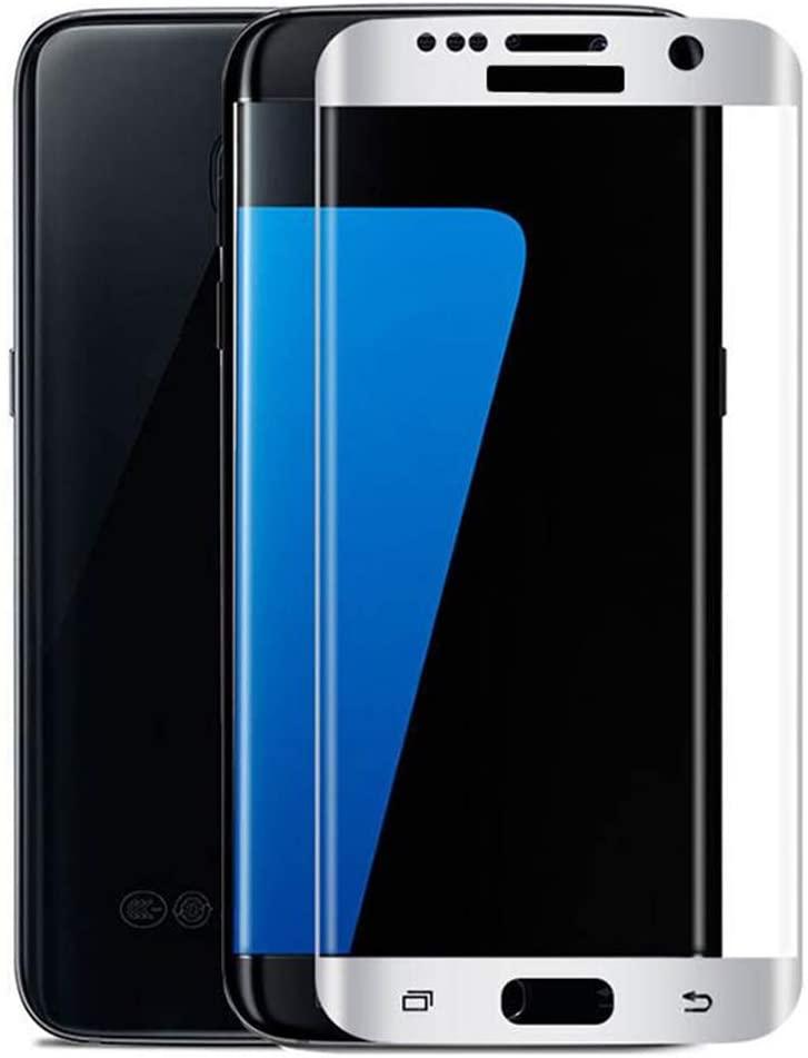 9H Premium Tempered Glass for Samsung Galaxy C8 / J7 / J7 Max / J7 Duo / J7 Plus / J8 Plus Silk Print Screen Protector Protective Glass Film.Anti Scratch,Anti-Glare,(2 Pack) (White,J7 Plus)