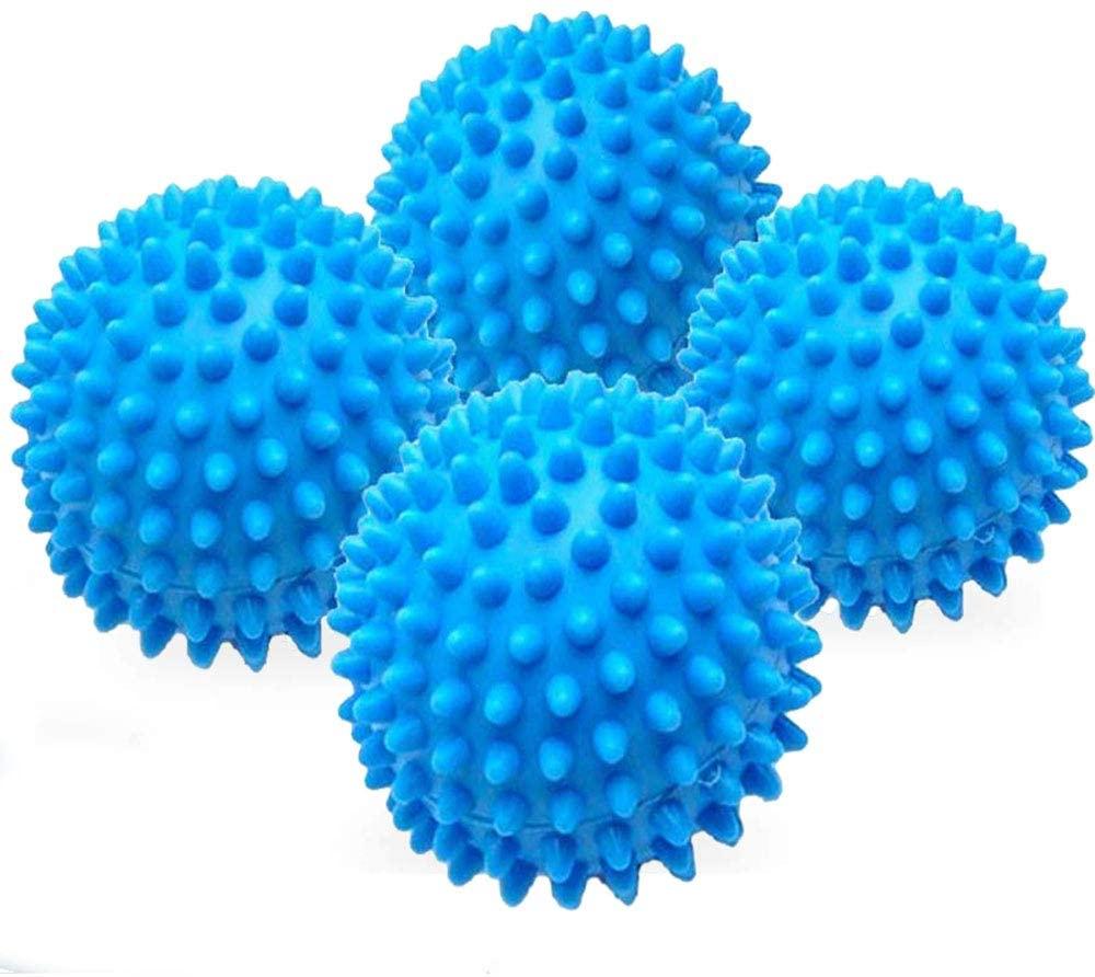 YTFLOT 4 Pcs/Set Laundry Dryer Balls Clothes Wash Drying Fabric Softener Reusable Laundry Ball Alternative Anti-Static PVC Washing Ball for Eco-Friendly Hypoallergenic