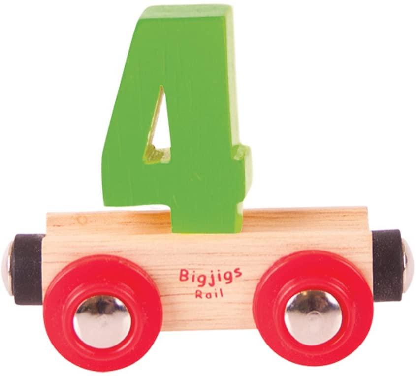 Bigjigs Rail Rail Name Number 4 (Green)