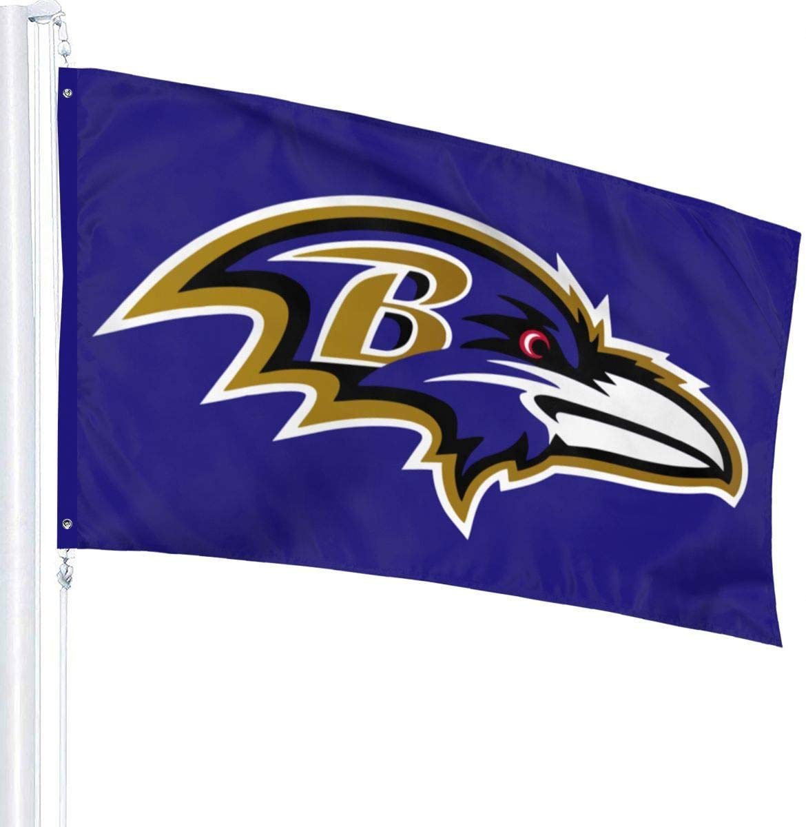 N/N Design Washington Football Single Sided Banner Indoor and Outdoor Sports Flag with Grommets 3X5 FT (Washington)