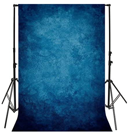Yeele 8x10ft Vintage Dark Blue Photography Backdrop Solid Blurry Gradient Pastel Chic Colours Design Photo Background Photobooth Adult Baby Party Photo Video Shoot Studio Props Drop Vinyl Wallpaper