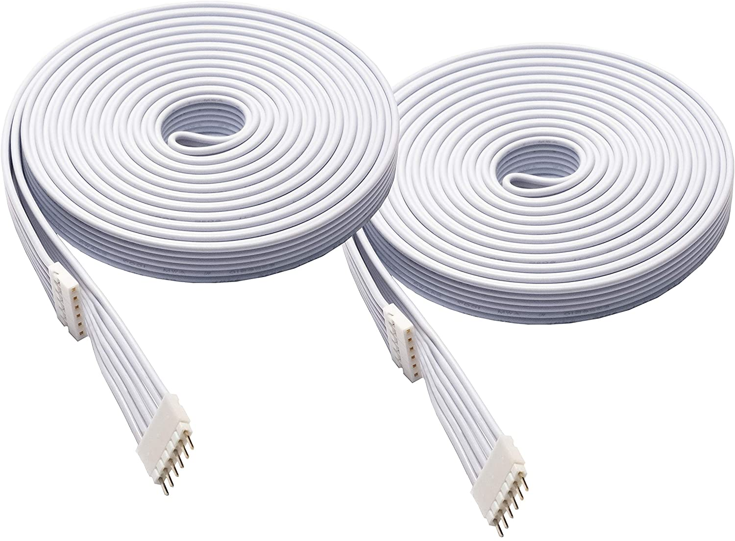 Litcessory Extension Cable for Eve Light Strips (10ft, 2 Pack, White)