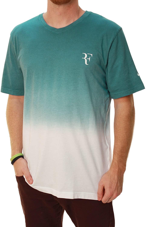 Nike Men's Regular Fit Roger Federer Organic Tennis T-Shirt-Large Black